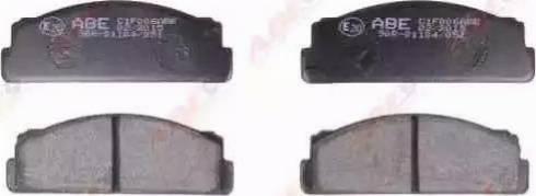 ABE C1F006ABE - Brake Pad Set, disc brake www.parts5.com