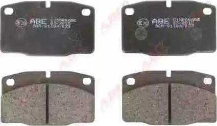 ABE C1X000ABE - Brake Pad Set, disc brake www.parts5.com