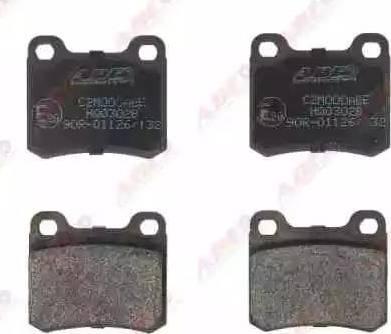 ABE C2M000ABE - Brake Pad Set, disc brake www.parts5.com