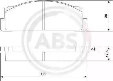 A.B.S. 36004 - Brake Pad Set, disc brake www.parts5.com