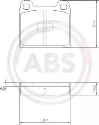 A.B.S. 36088 - Brake Pad Set, disc brake www.parts5.com