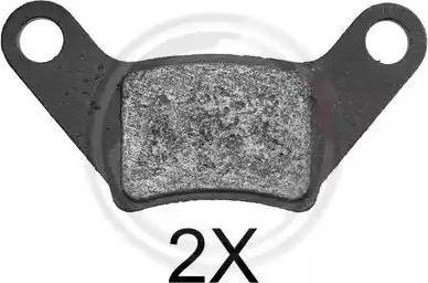 A.B.S. 37879 - Brake Pad Set, disc brake www.parts5.com