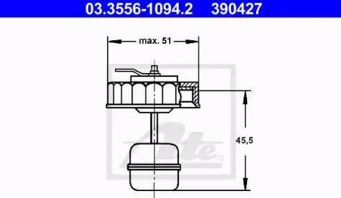 ATE 03355610942 - Sealing Cap, brake fluid reservoir www.parts5.com