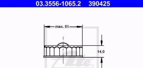 ATE 03355610652 - Sealing Cap, brake fluid reservoir www.parts5.com