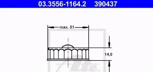 ATE 03355611642 - Sealing Cap, brake fluid reservoir www.parts5.com