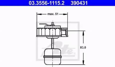 ATE 03355611152 - Sealing Cap, brake fluid reservoir www.parts5.com