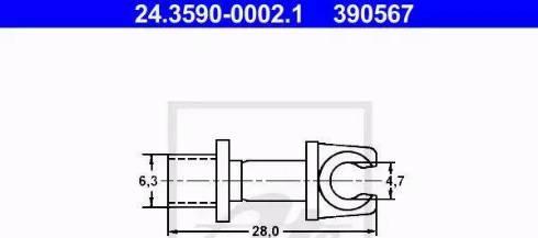 ATE 24359000021 - Holder, brake lines www.parts5.com