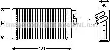 Ava Quality Cooling AI6052 - Heat Exchanger, interior heating www.parts5.com