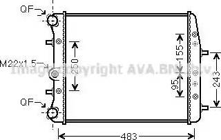 Ava Quality Cooling SAA2005 - Radiator, engine cooling www.parts5.com