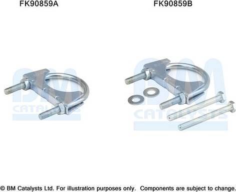 BM Catalysts FK90859 - Mounting Kit, catalytic converter www.parts5.com
