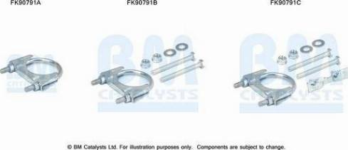 BM Catalysts FK90791 - Mounting Kit, catalytic converter www.parts5.com