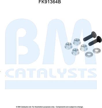 BM Catalysts FK91364 - Mounting Kit, catalytic converter www.parts5.com