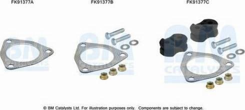 BM Catalysts FK91377 - Mounting Kit, catalytic converter www.parts5.com