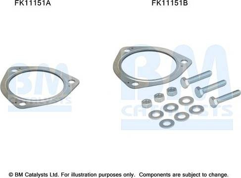 BM Catalysts FK11151 - Mounting Kit, soot filter www.parts5.com