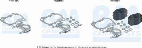 BM Catalysts FK80135 - Mounting Kit, catalytic converter www.parts5.com