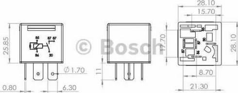 BOSCH 0986AH0204 - Multifunctional Relay www.parts5.com