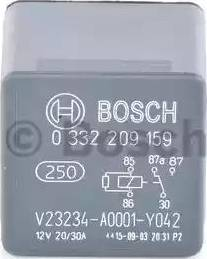 BOSCH 0332209159 - Relay, fuel pump www.parts5.com