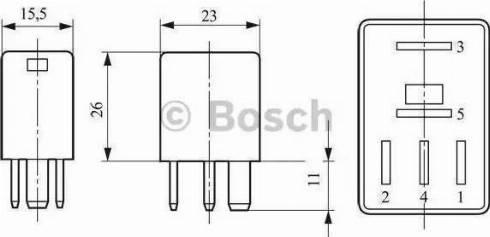 BOSCH 0332017300 - Relay, fuel pump www.parts5.com