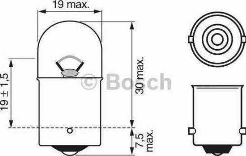 BOSCH 1987302284 - Bulb, park-/position light www.parts5.com