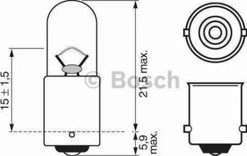 BOSCH 1987302207 - Bulb, park-/position light www.parts5.com