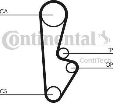 Contitech CT559 - Timing Belt www.parts5.com