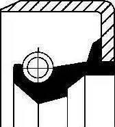 Corteco 01002914B - Shaft Seal, auxiliary drive www.parts5.com