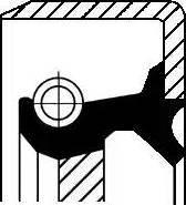 Corteco 19016639B - Shaft Seal, auxiliary drive www.parts5.com