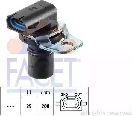 FACET 90104 - RPM Sensor, automatic transmission www.parts5.com