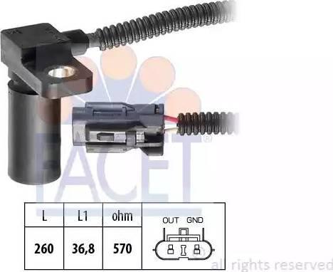 FACET 90232 - RPM Sensor, automatic transmission www.parts5.com