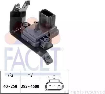 FACET 103020 - Sensor, exhaust pressure www.parts5.com