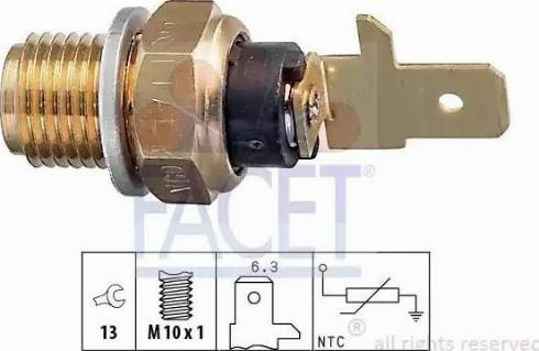 FACET 73154 - Sensor, oil temperature www.parts5.com
