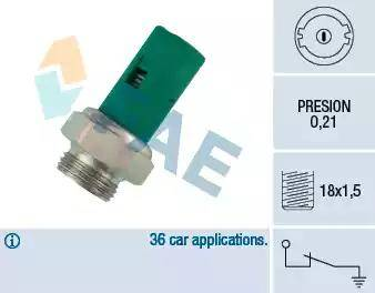 FAE 12490 - Oil Pressure Switch www.parts5.com