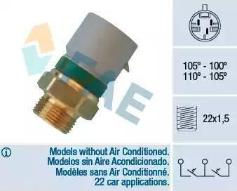 FAE 38350 - Temperature Switch, radiator / air conditioner fan www.parts5.com