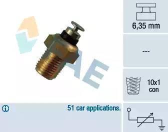 FAE 32180 - Sensor, coolant temperature www.parts5.com