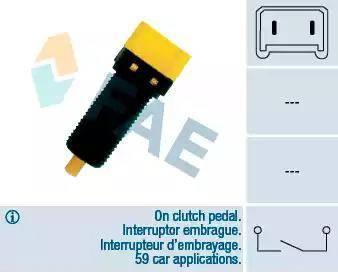 FAE 24860 - Switch, clutch control (cruise control) www.parts5.com