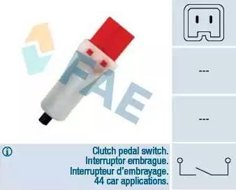 FAE 24884 - Switch, clutch control (cruise control) www.parts5.com