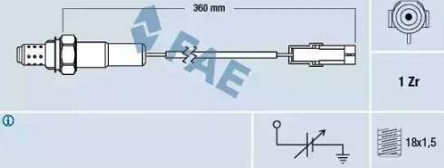 FAE 77101 - Lambda Sensor www.parts5.com