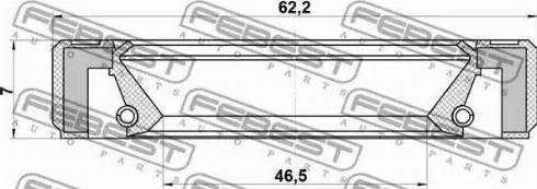 Febest 95GBY48620707R - Shaft Seal, differential www.parts5.com