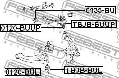 Febest 0135BU - Support, control arm www.parts5.com