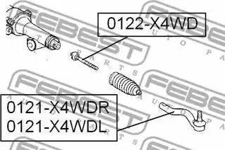 Febest 0122X4WD - Tie Rod Axle Joint www.parts5.com