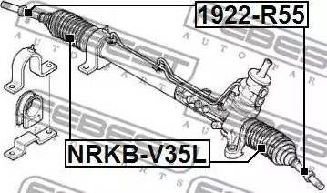 Febest 1922R50 - Tie Rod Axle Joint www.parts5.com