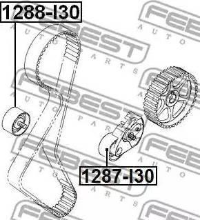 Febest 1287I30 - Tensioner Pulley, timing belt www.parts5.com
