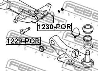 Febest 1229POR - Camber Correction Screw www.parts5.com