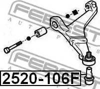 Febest 2520106F - Ball Joint www.parts5.com