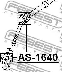 Febest AS1640 - Joint, steering shaft www.parts5.com