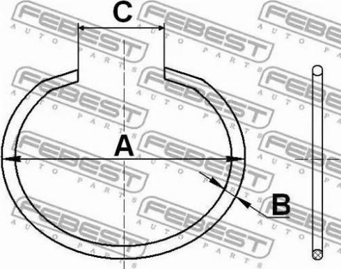 Febest CC528X2 - Mounting Set, driveshaft bellow www.parts5.com