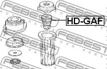 Febest HD-GAF - Rubber Buffer, suspension www.parts5.com