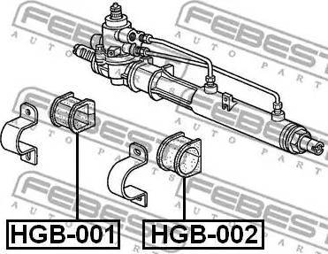 Febest HGB001 - Mounting, steering gear www.parts5.com