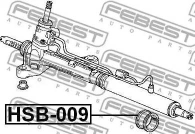 Febest HSB009 - Mounting, steering gear www.parts5.com