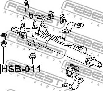 Febest HSB011 - Mounting, steering gear www.parts5.com